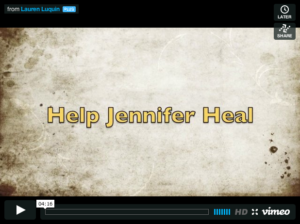 Help Jennifer Heal - video