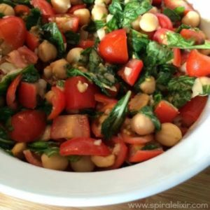 tomato basil garbanzo beans raw salad recipe