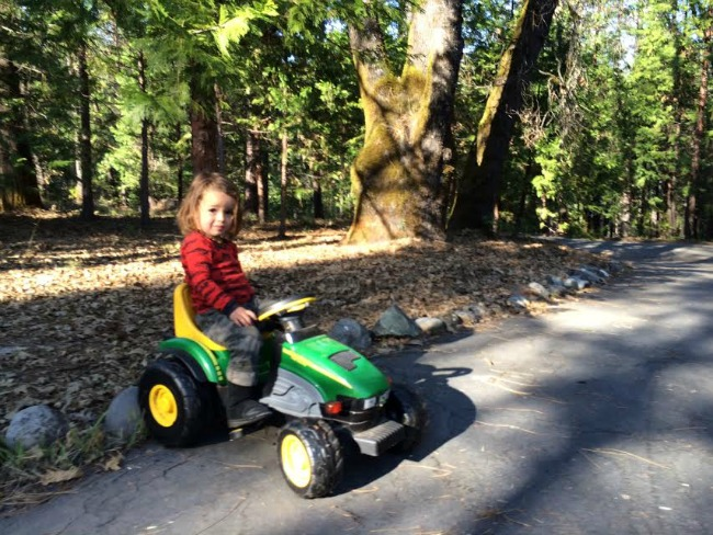 Boy On Tractor : Peace in the forest our new home how we got here spiral