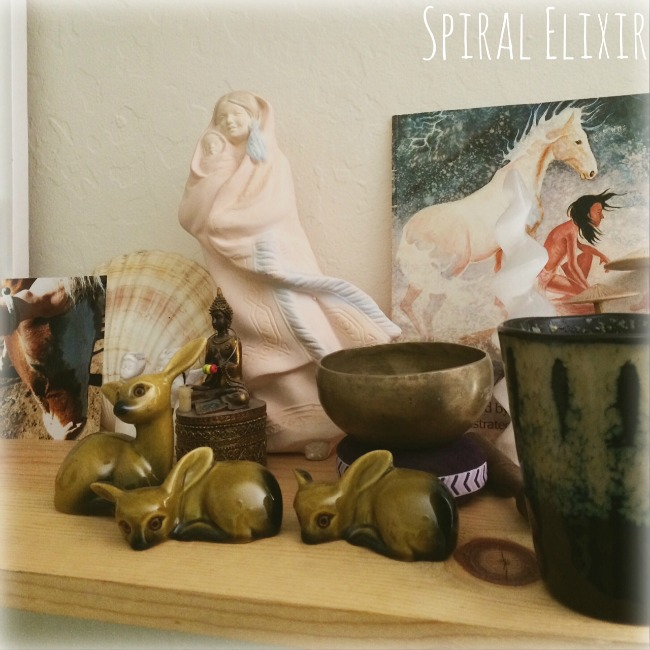 tea altar horse and deer