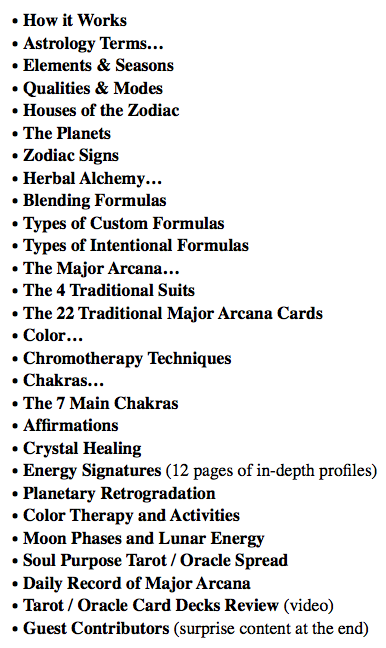 astrology of herbs and tarot: correspondences for healing