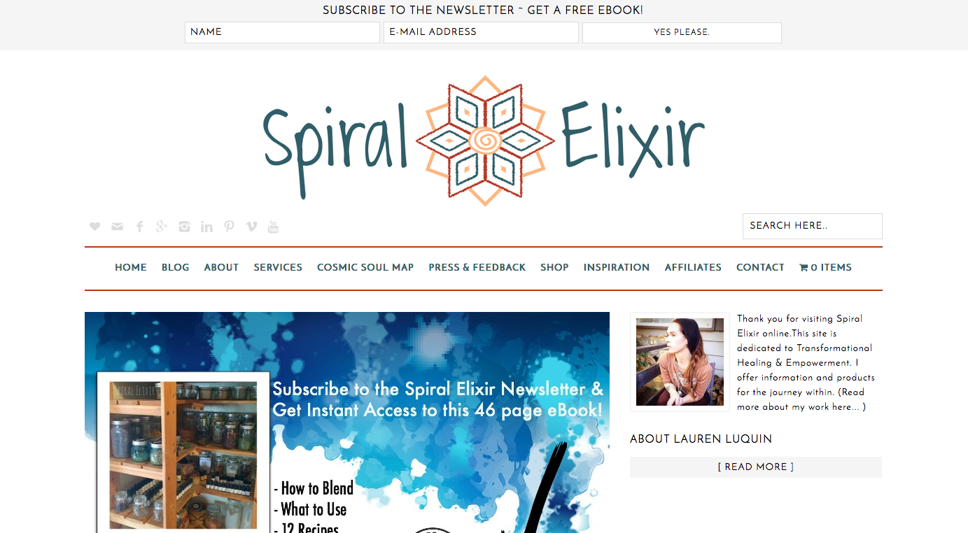 Excited to Reveal the New Website Design for Spiral Elixir!