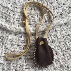 Deerskin Pouch - Medicine Bag - Drawstring Necklace
