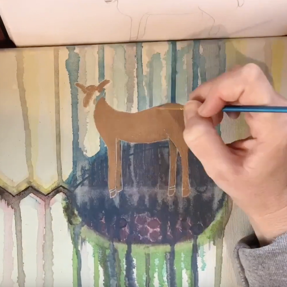 Turning Suffering Into Beauty – Spiral Elixir Deer Painting Video