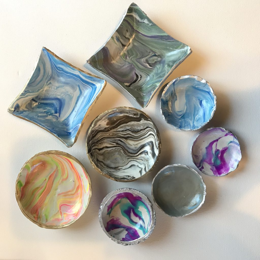 A Beautiful Mess - Making Marbled Clay Ring Dishes